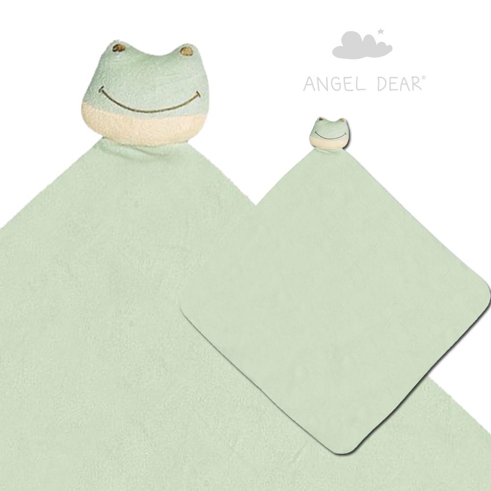 美國 Angel Dear 大頭動物嬰兒毛毯禮盒版 (小青蛙)