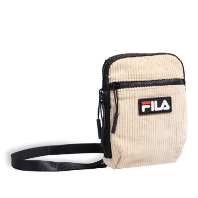 Fila 斜背包 Corduroy Shoulder Bag 斐樂 外出 輕便 小包 穿搭 燈心絨 米 黑 BSU9006KK