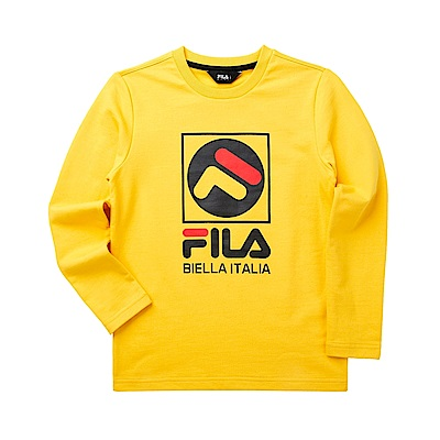 FILA KIDS 童長袖T恤-黃 1TET-8901-YE