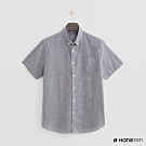 Hang Ten - 男裝 - 簡約短袖棉質襯衫 - 灰