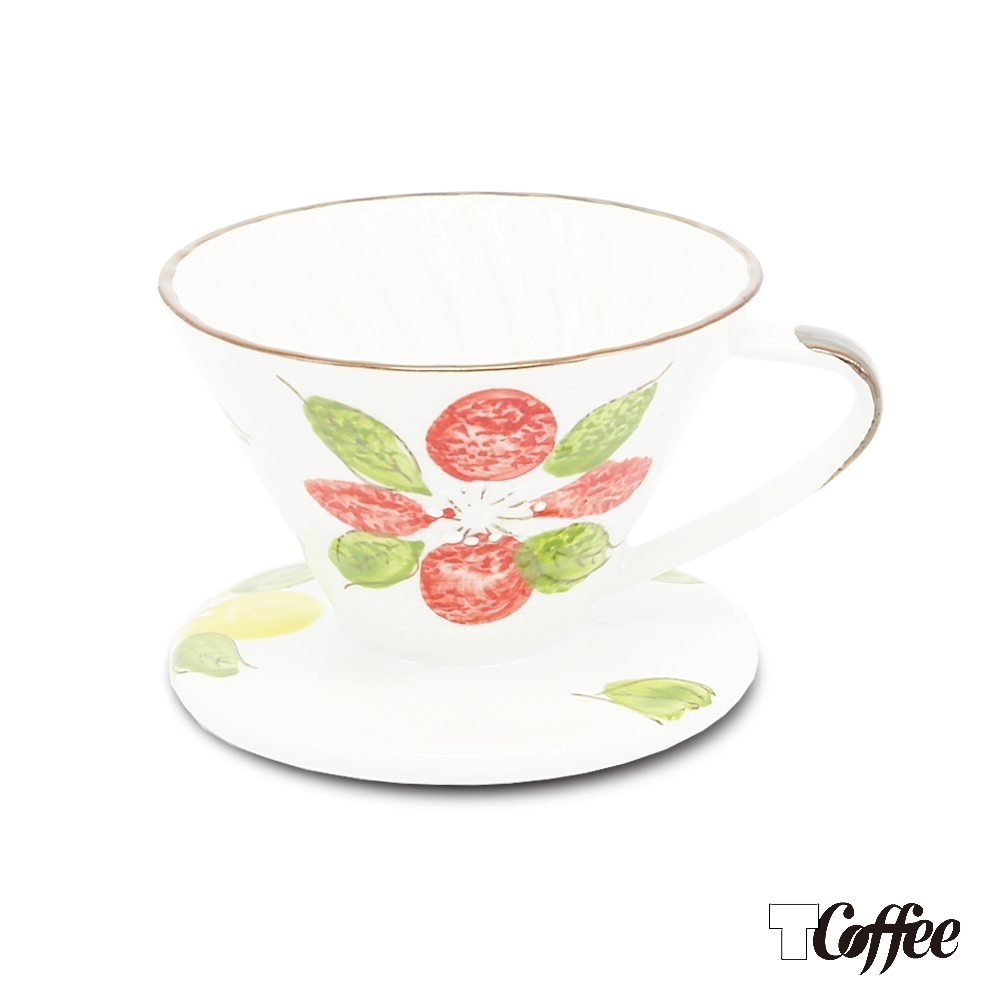 TCoffee MILA-日式手繪咖啡濾杯101山茶花