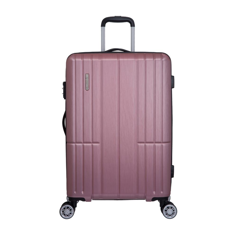 AIRLINE -24吋拉鍊箱-粉紅 OD1716B24PK