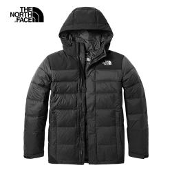 The North Face北面男款黑色戶外保暖羽絨外套|3RKBKX7