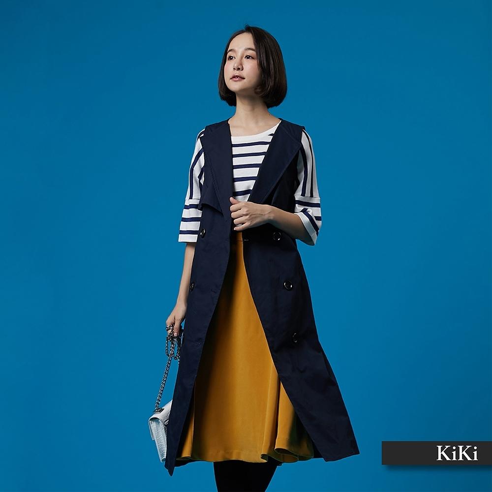 【KiKi】經典百搭風衣背心-外套(二色)