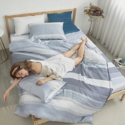 BUHO 100%TENCEL純天絲舖棉兩用被床包組-雙人加大(恆時夜藍)