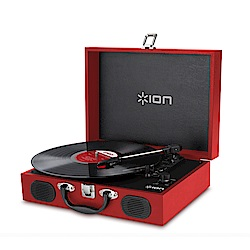 ION Audio Vinyl Transport手提黑膠唱機 - 紅色款