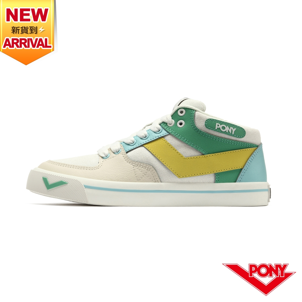 【PONY】ATOP 潮流玩色滑板鞋 女鞋-果綠