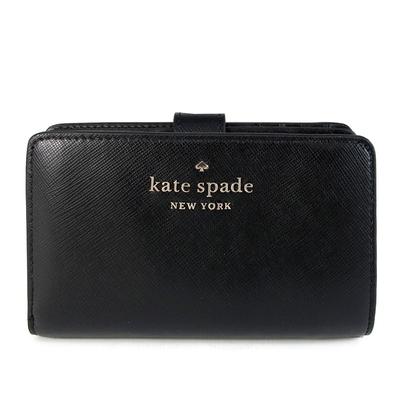 [時時樂]Kate Spade 桃心Logo經典皮革中夾(多款)