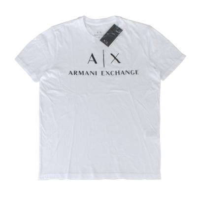 A│X Armani Exchange經典字母LOGO造型短袖T恤(S/白)