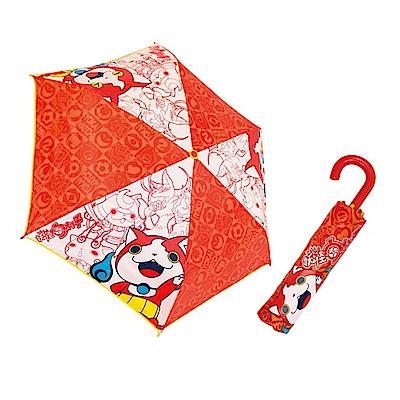 J型掛勾摺疊傘。紅色   妖怪手錶