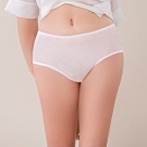 可蘭霓Clany MIT透氣網布舒適 L-XL中腰內褲 點點粉