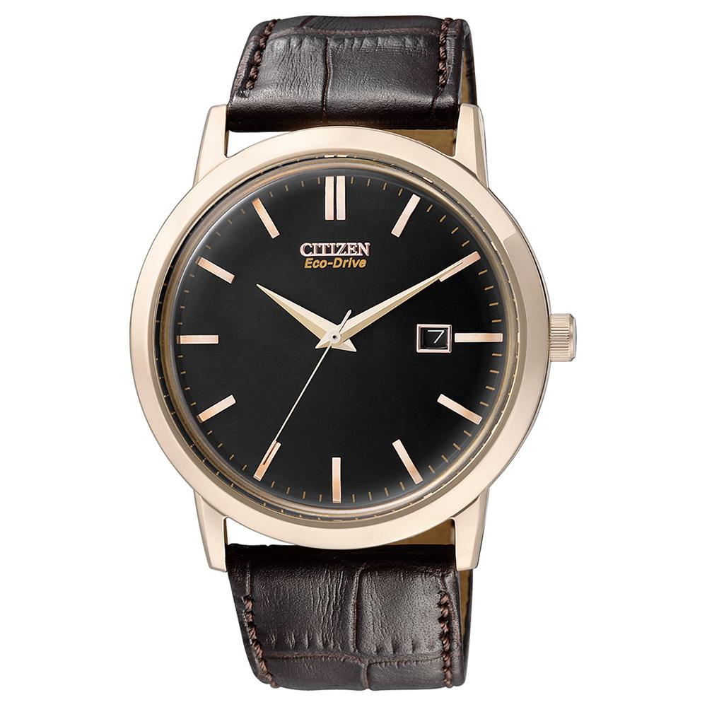 CITIZEN  氣宇軒昂光動能石英腕錶(BM7193-07E)-黑/40mm