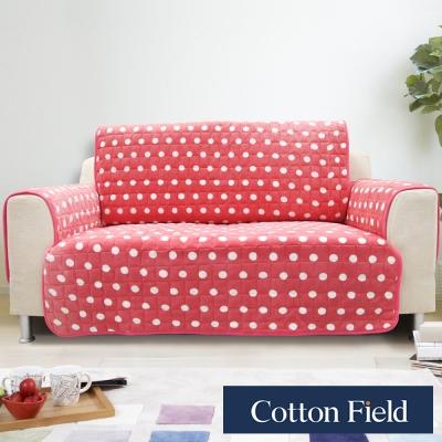棉花田【暖點】單人沙發防滑保暖保潔墊-蜜桃粉