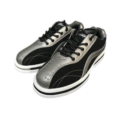 【DJ80嚴選】LANEWOLF 仿真皮男用高級保齡球鞋-右手鞋(黑銀色)