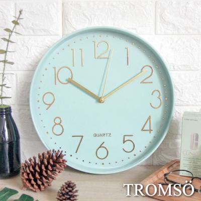 TROMSO 紐約時代玫瑰金靜音時鐘-時代藍綠金