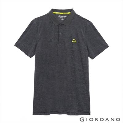 GIORDANO 男裝G-MOTION涼感POLO衫-56 仿段彩深灰