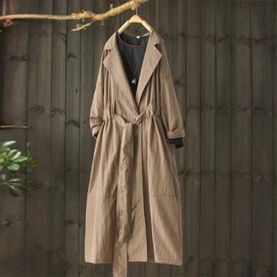 風衣寬鬆裙襬式外衣繫帶外套-設計所在