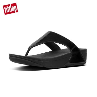 FitFlop LULU TOE-THONG SANDALS 鏡面黑