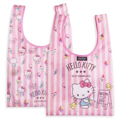 murmur 便當包/小購物袋│Hello Kitty 雪糕條紋 BDB61