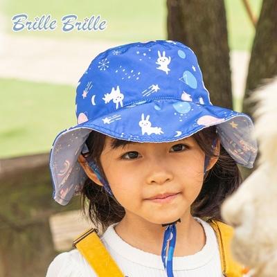 【Brille Brille】兒童UPF50+雙面防曬帽 - 太空漫舞