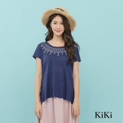 【KiKi】休閒皇冠造型-針織衫(三色)