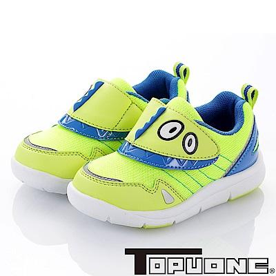 (雙11)TOPUONE 恐龍造型抗菌防臭休閒童鞋-綠(中小童)