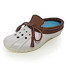 (男)Ponic&Co美國加州環保防水洞洞半包式拖鞋-灰白色