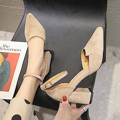 KEITH-WILL時尚鞋館 特惠款必備好穿粗跟鞋-杏色