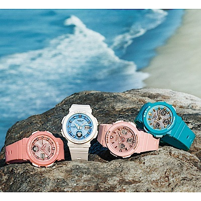 CASIO卡西歐 BABY-G街頭繽紛雙顯錶(BGA-250-7A1)白色/41mm