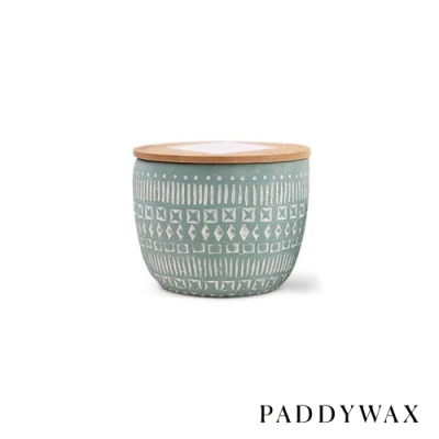 PADDYWAX 美國香氛 Sonora系列 月桂佛手柑 原木蓋復刻浮雕陶罐 283g