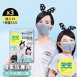 【天天機車族專用親子口罩】成人+兒童尺寸(15+15入/盒