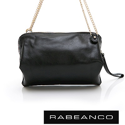 RABEANCO 心系列菱型多WAY鍊帶包 黑