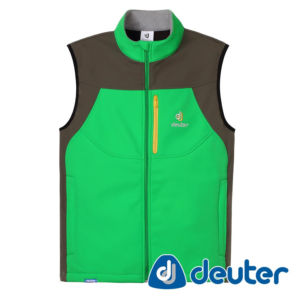 【deuter德國】男款休閒運動刷毛保暖背心DE-V1401M綠