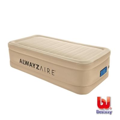 凡太奇 Bestway Twin單人舒適款加高可調整AC自動充氣床-米白 69036E