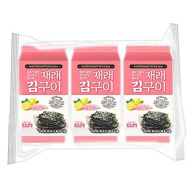 元本山 朝鮮海苔檸檬玫瑰鹽風味(4.5gx3包)
