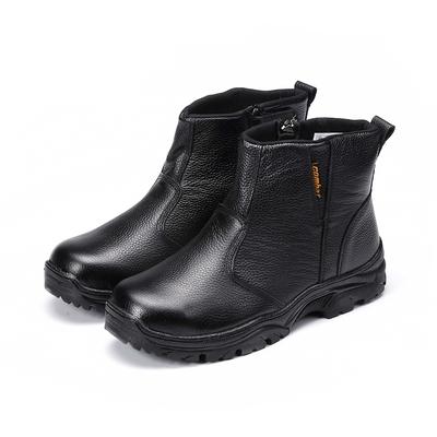 COMBAT艾樂跑男鞋-拉鍊式皮質高筒工作鞋-黑(FA590)