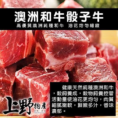 【上野物產】澳洲和牛骰子牛 ( 200g±10%/包 ) x20包
