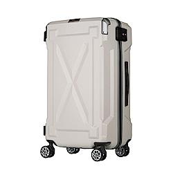 日本LEGEND WALKER 6304-61-24吋 防潑水拉鍊行李箱 消光白