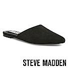 STEVE MADDEN ANTIONETTE 簡約時尚尖頭後跟拖-絨黑