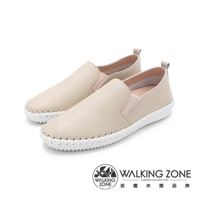 WALKING ZONE 手縫真皮樂福男鞋-米(另有深藍)