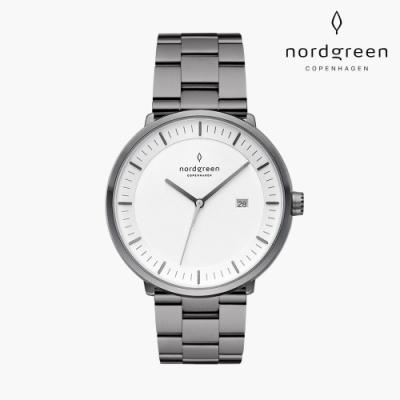 Nordgreen Philosopher 哲學家 深空灰系列 深空灰 三珠精鋼錶帶手錶 40mm