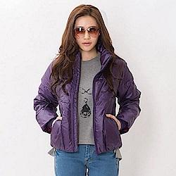【TOP GIRL】輕量大立領羽絨外套 - 愛戀紫