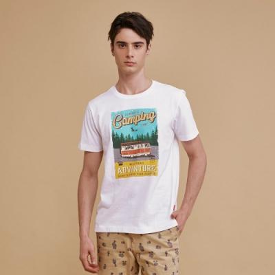 【JOHN HENRY】復古露營車短袖T恤-兩色選