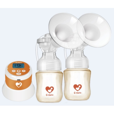 (買就送10%超贈點)【新貝樂】C1小橙樂 三合一雙邊電動吸乳器
