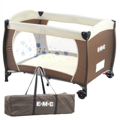 EMC 安全嬰兒床(具遊戲功能)(咖啡色)