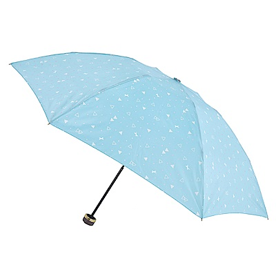2mm 清漾幾何 晴雨兩用抗UV輕量手開傘 (綠色幾何)