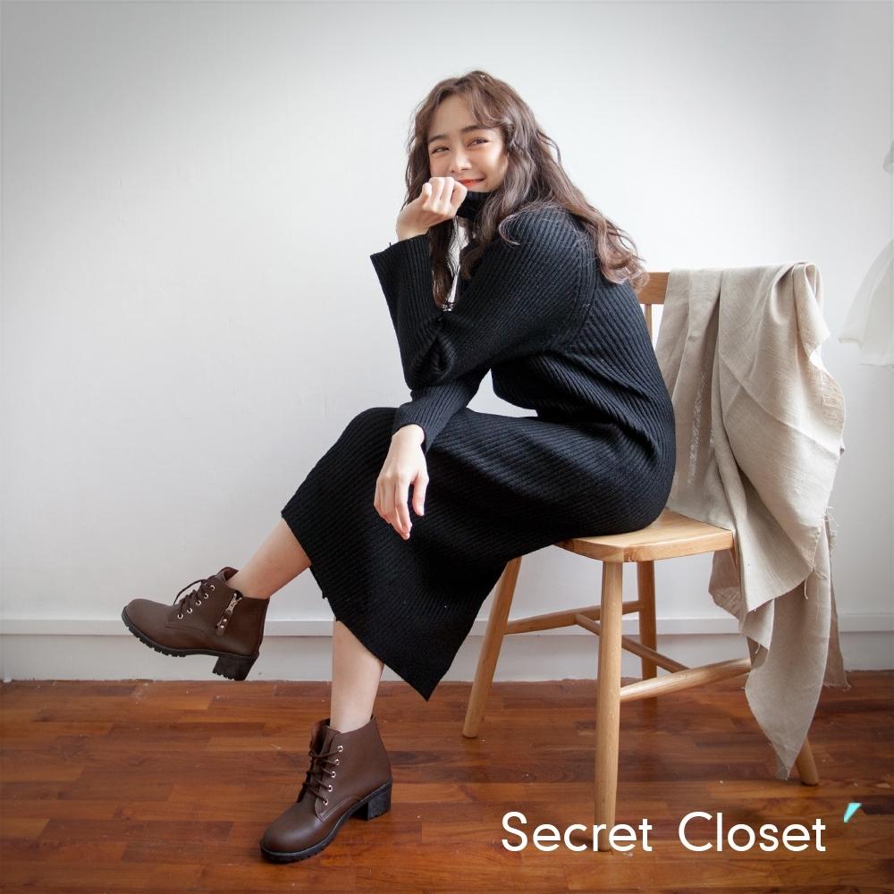 Secret Closet-簡約高領修身針織上衣