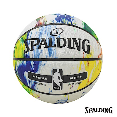 SPALDING 斯伯丁 彩色大理石 Rubber 籃球 7號