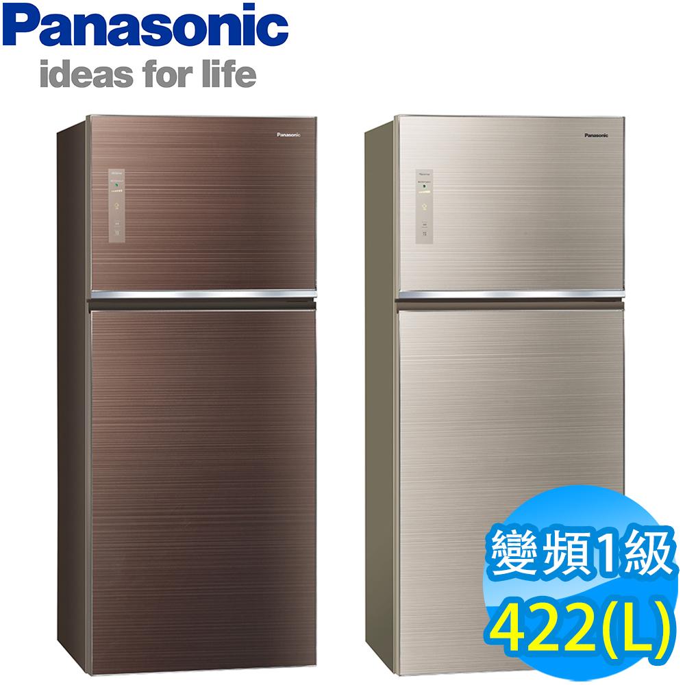 Panasonic國際牌 422L 1級變頻2門電冰箱 NR-B429TG 翡翠金 台松