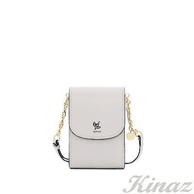 KINAZ 清秀身影鏈帶斜背包-丁香紫-常春藤系列-快